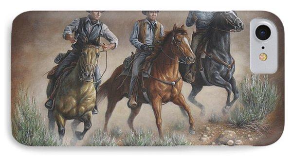 Cowboys Of Star Trek IPhone Case by Kim Lockman