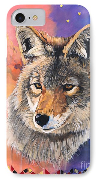 Coyote The Trickster Phone Case by J W Baker