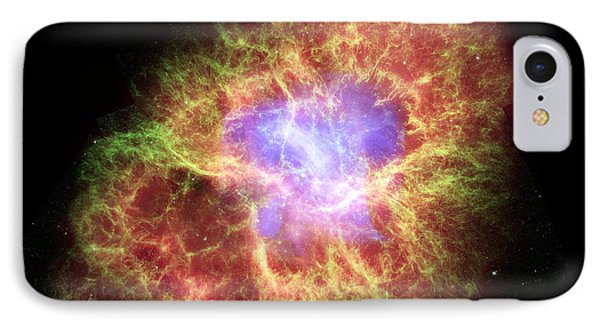 Crab Nebula, Composite Image IPhone Case by Nasacxcesaasu