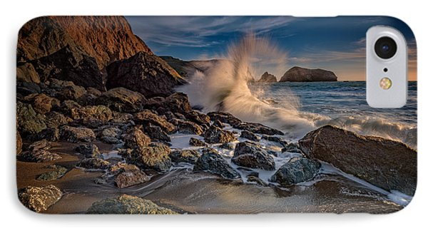 Crashing Waves On Rodeo Beach IPhone Case by Rick Berk