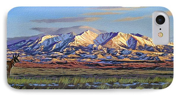 Crazy Mountains-morning IPhone Case by Paul Krapf