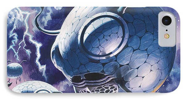 Creatures In Outer Space  IPhone Case by Wilf Hardy