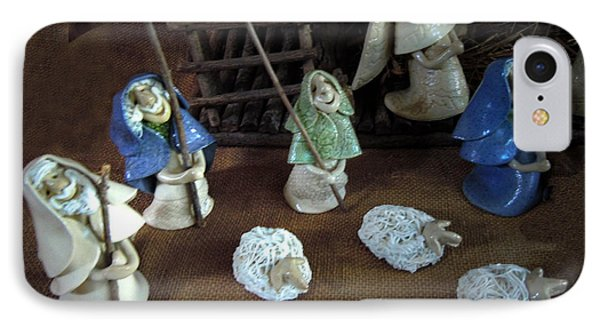 Creche Shepards And Sheep Phone Case by Nancy Griswold