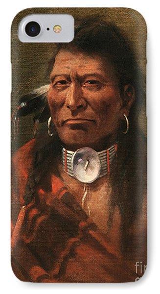 Cree Chief IPhone Case by Edgar S Paxson