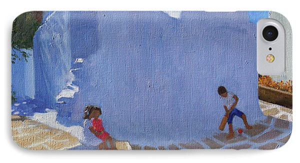 Cricket By The Church Wall, Mykonos  IPhone Case by Andrew Macara