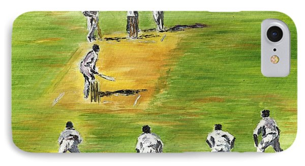 Cricket Duel IPhone Case by Richard Jules