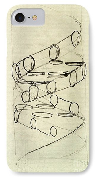 Cricks Original Dna Sketch IPhone Case by Science Source