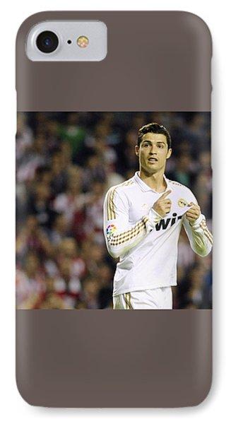 Cristiano Ronaldo 4 IPhone 7 Case by Rafa Rivas