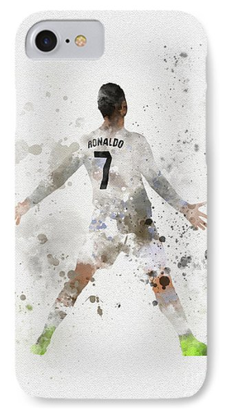 Cristiano Ronaldo IPhone 7 Case by Rebecca Jenkins