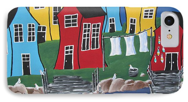 Crooked House Bay IPhone Case by Beverly Livingstone