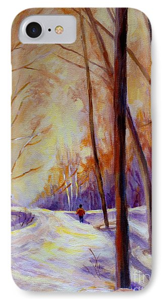 Cross Country Sking St. Agathe Quebec Phone Case by Carole Spandau