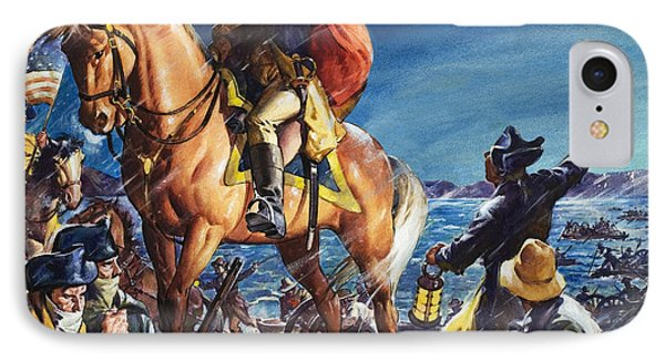 George Washington Crossing The Delaware River On Christmas Night IPhone Case by James Edwin McConnell