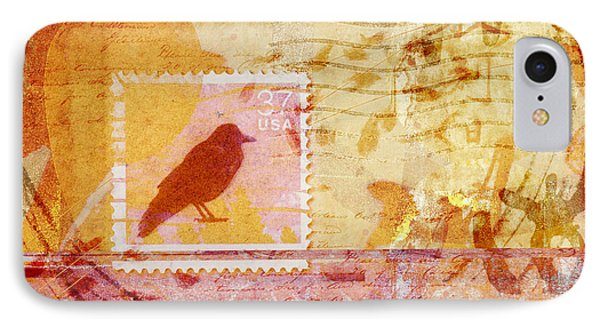 Crow In Orange And Pink IPhone Case by Carol Leigh