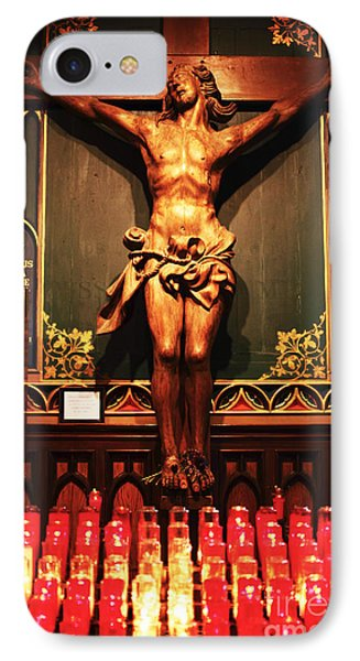 Crucifix At Notre Dame IPhone Case by John Rizzuto