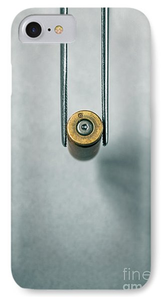 Csi Bullet Shell Evidence  IPhone Case by Carlos Caetano