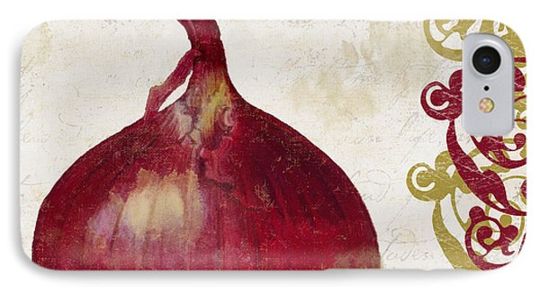 Cucina Italiana Onion IPhone Case by Mindy Sommers