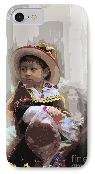 Cuenca Kids 649 IPhone Case by Al Bourassa