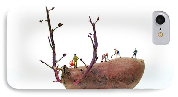 Cultivation On A Sweet Potato Phone Case by Paul Ge