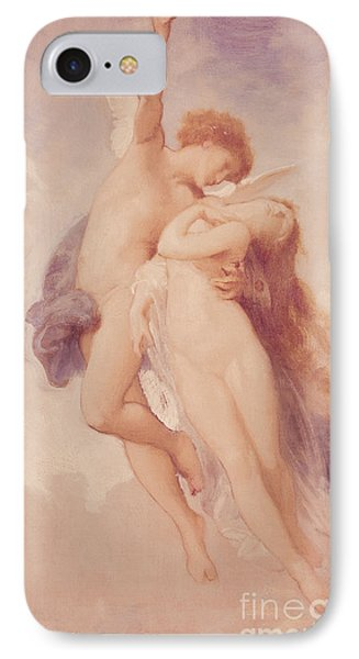 Cupid And Psyche IPhone Case by William Adolphe Bouguereau