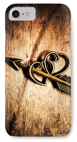 Cupid Arrow And Hearts IPhone Case by Jorgo Photography - Wall Art Gallery