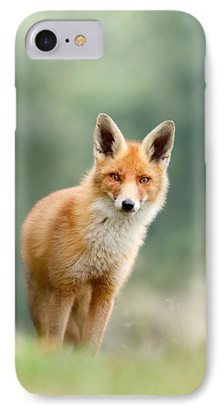 Curious Fox IPhone 7 Case by Roeselien Raimond