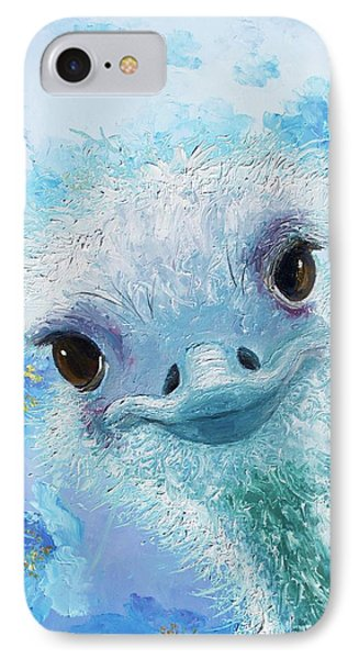 Curious Ostrich IPhone 7 Case by Jan Matson