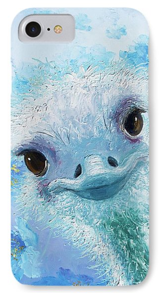 Curious Ostrich IPhone Case by Jan Matson