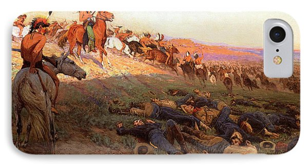 Custer's Last Stand IPhone Case by Richard Lorenz