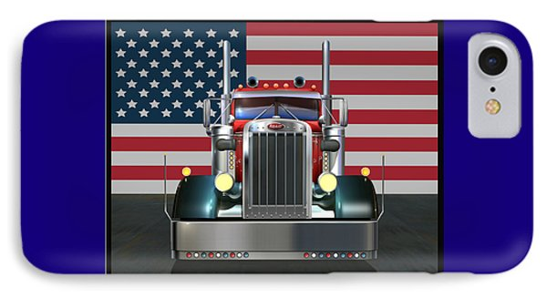 Custom Peterbilt 2 IPhone Case by Stuart Swartz