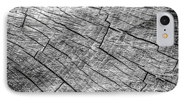 Cut Wood Trunk And Grain Pattern IPhone Case by John Williams