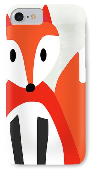 Cute Red And White Fox- Art By Linda Woods IPhone Case by Linda Woods