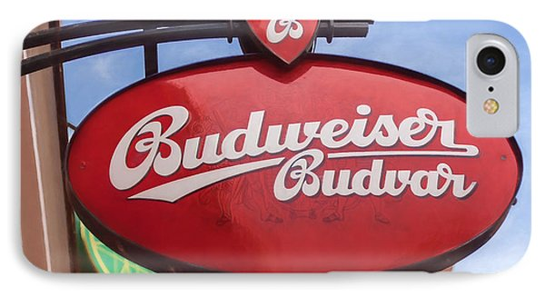Czech Budvar IPhone Case by Shirley Radabaugh