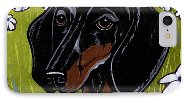 Dachshund IPhone Case by Leanne Wilkes