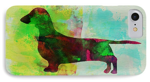 Dachshund Watercolor IPhone Case by Naxart Studio
