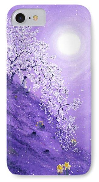 Daffodil Dawn Meditation IPhone Case by Laura Iverson