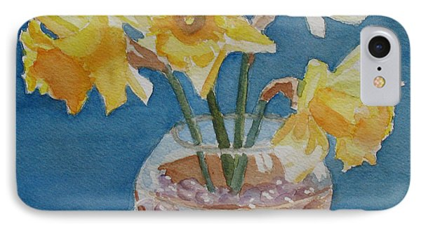 Daffodils And Marbles Phone Case by Jenny Armitage