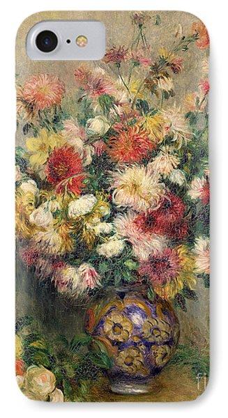 Dahlias Phone Case by Pierre Auguste Renoir