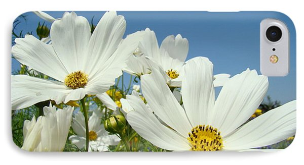 Daisies Flowers Art Prints White Daisy Flower Gardens Phone Case by Baslee Troutman