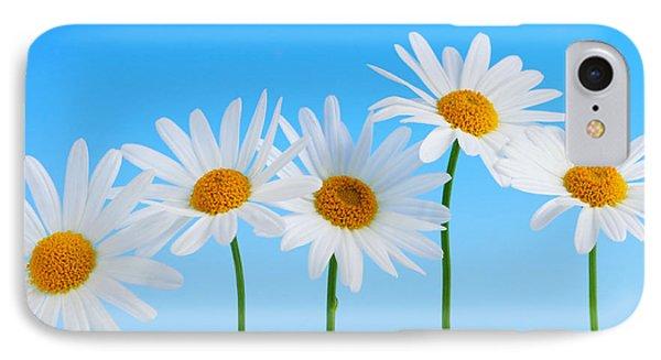 Daisy Flowers On Blue IPhone 7 Case by Elena Elisseeva