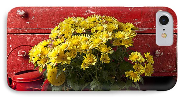 Daisy Plant In Drawers IPhone 7 Case by Garry Gay