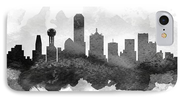 Dallas Cityscape 11 IPhone Case by Aged Pixel