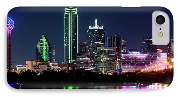 Dallas Colors Pano 2015 IPhone Case by Rospotte Photography