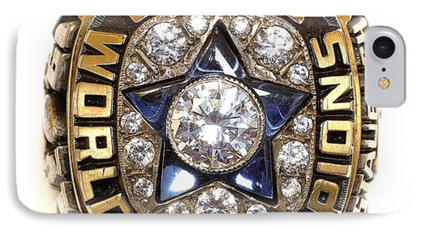 Dallas Cowboys First Super Bowl Ring Phone Case by Paul Van Scott