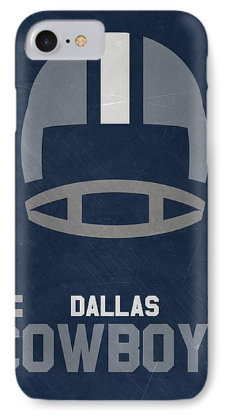 Dallas Cowboys Vintage Art IPhone 7 Case by Joe Hamilton