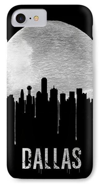 Dallas Skyline Black IPhone Case by Naxart Studio