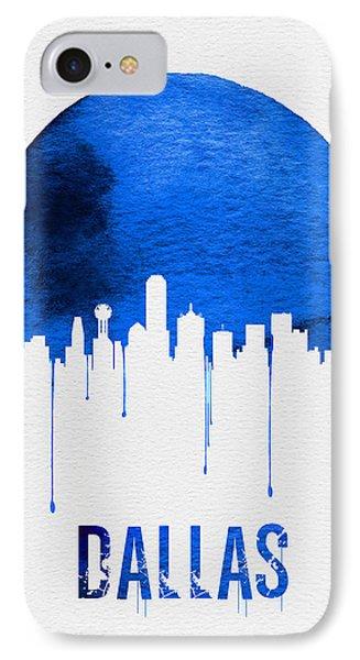 Dallas Skyline Blue IPhone 7 Case by Naxart Studio