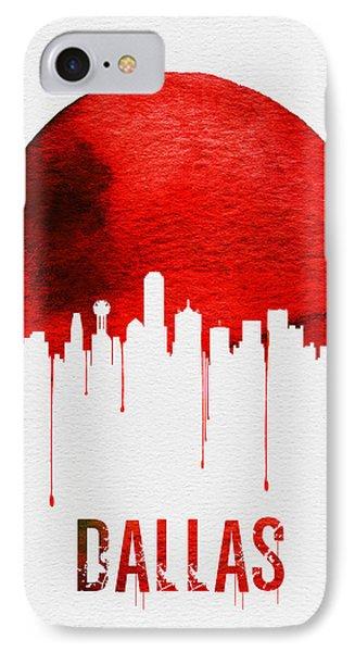 Dallas Skyline Red IPhone 7 Case by Naxart Studio