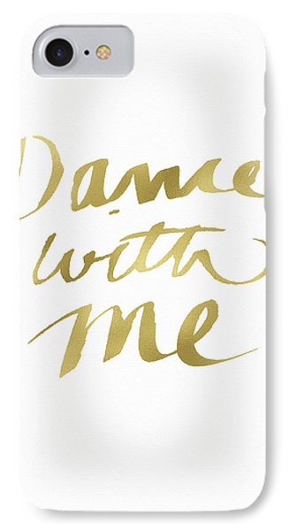 Dance With Me Gold- Art By Linda Woods IPhone Case by Linda Woods