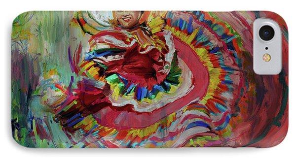 Dancer 266 1 IPhone Case by Mawra Tahreem