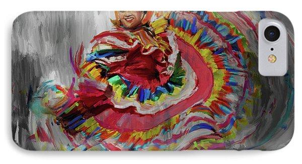 Dancer 266 4 IPhone Case by Mawra Tahreem